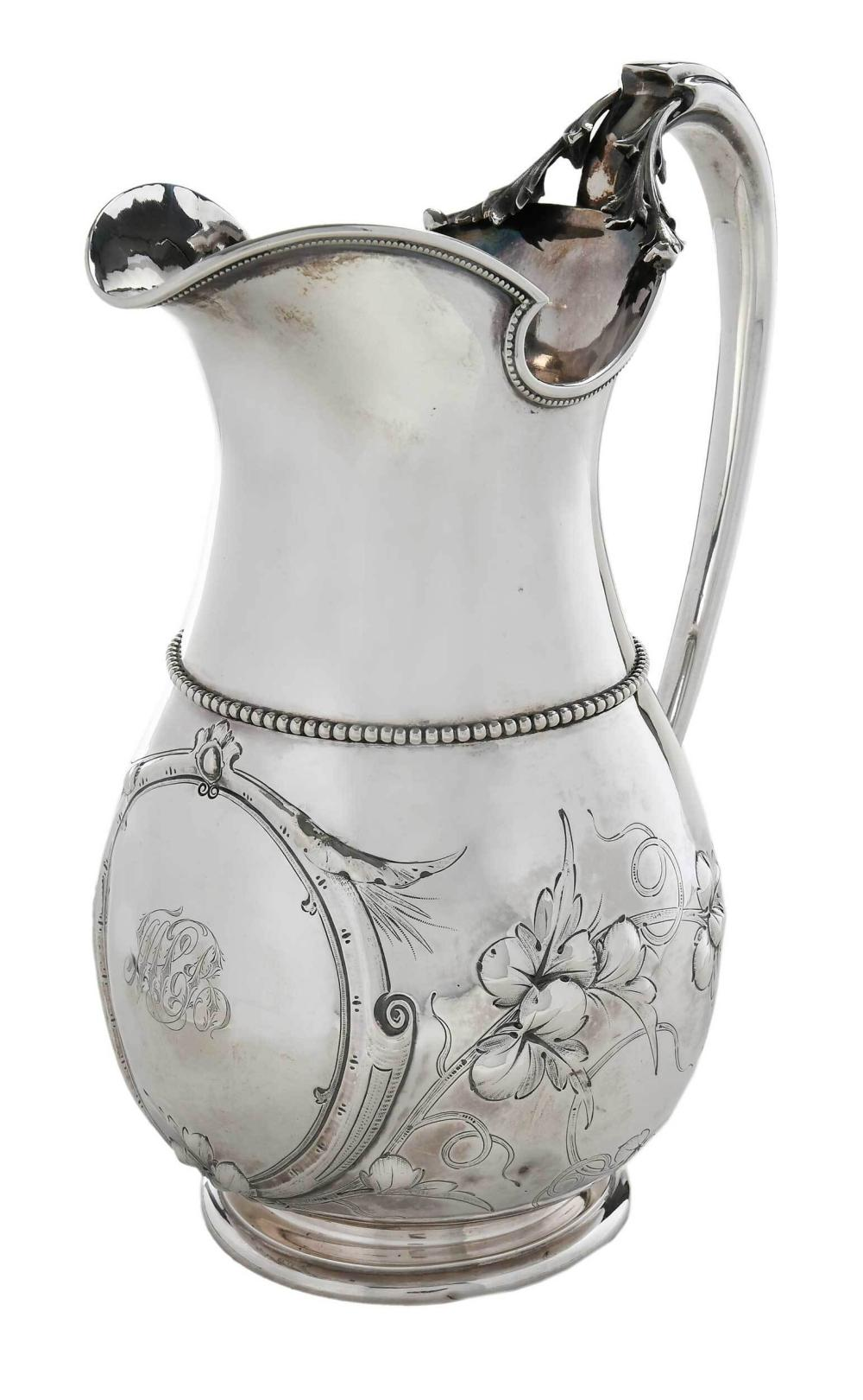 New Orleans Coin Silver Pitcher, E. A. Tyler