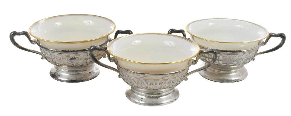 Twelve Sterling and Lenox Cream Soups