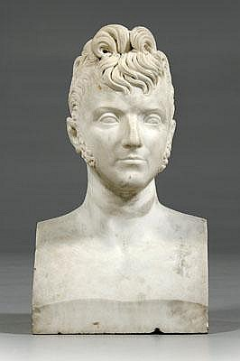 Marble bust of Prince Borghesi, portrait of Prince