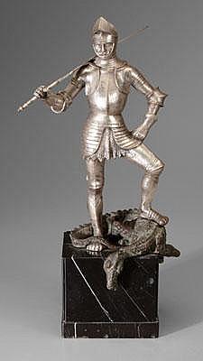 August Kraus sculpture (German, 1868-1934), St.