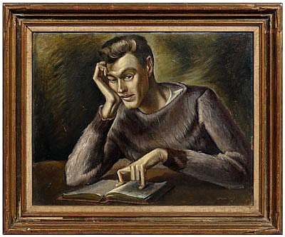 Important Lamar Dodd portrait (Georgia,
