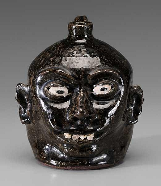 Early Lanier Meaders Face Jug