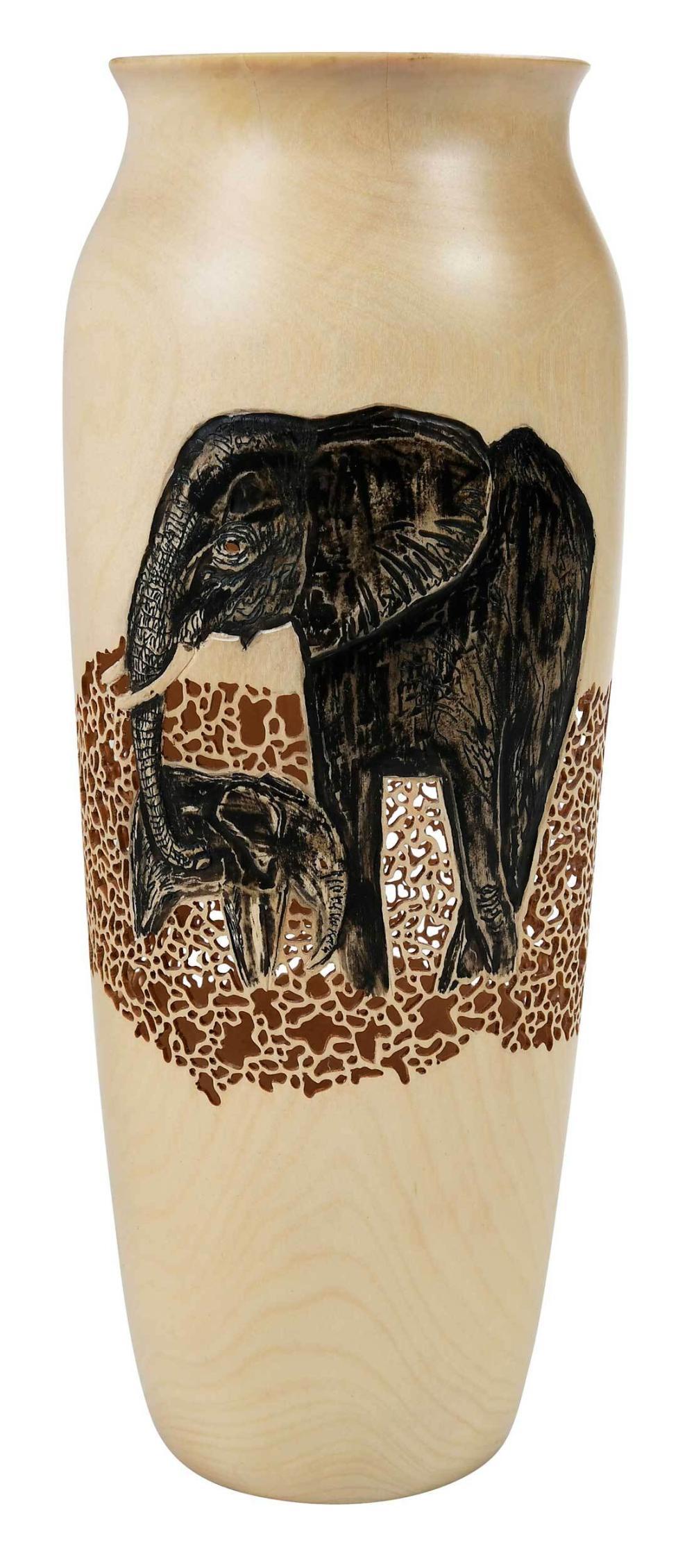 Frank Sudol Turned 'Elephant' Vase