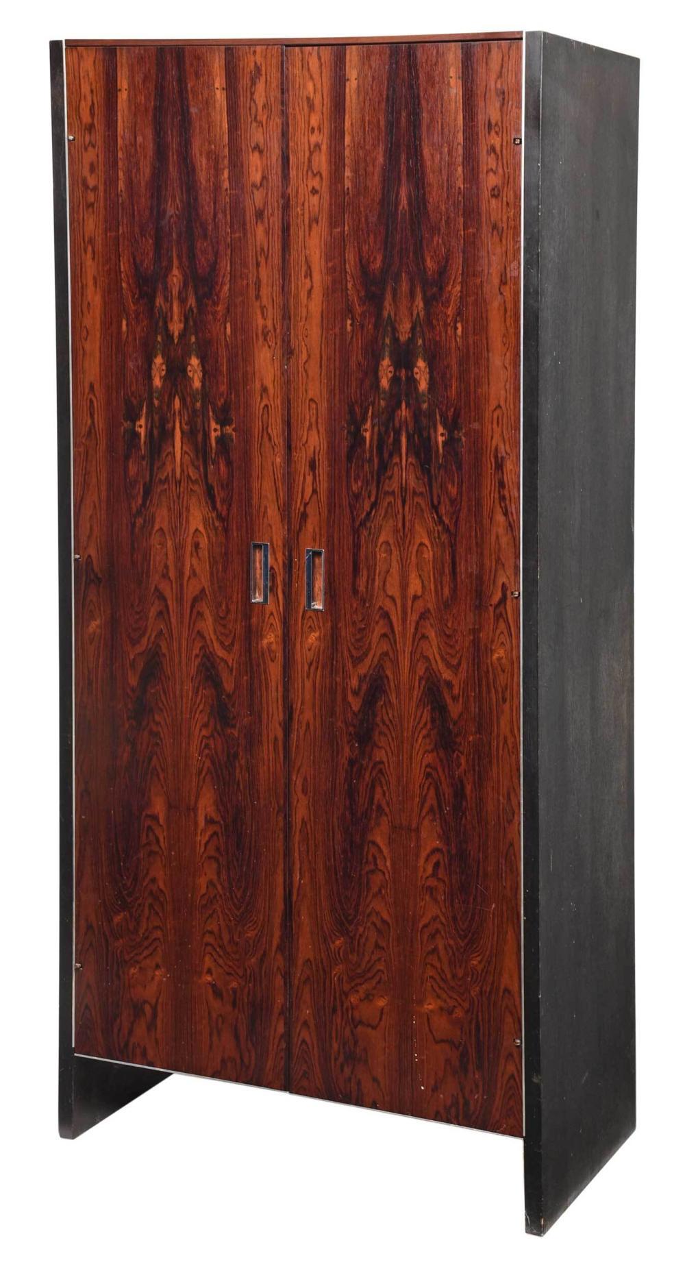Mid Century Modern Rosewood Veneered Wardrobe