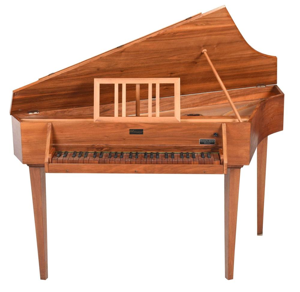 Wittmayer Mid Century Fruitwood Harpsichord