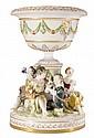 Figural Porcelain Center Bowl