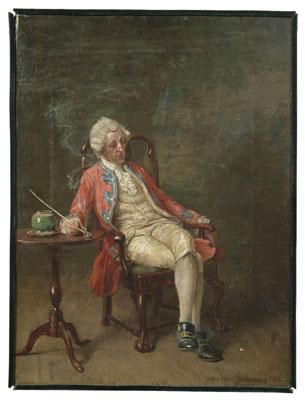 Painting by John Ward Dunsmore