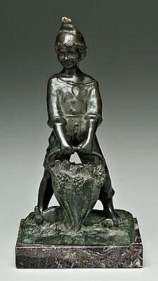 Giovanni De Martino patinated bronze (Italian,