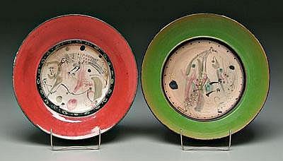 Two Gilbert Portanier bowls (French, born 1926),