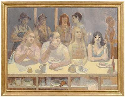 Harry Allen Davis painting (Indiana, 1914-2005),