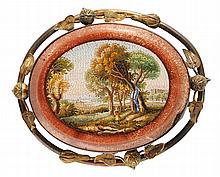 Micromosaic Brooch