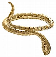 Custom 14 Kt. Gold Serpent Bracelet
