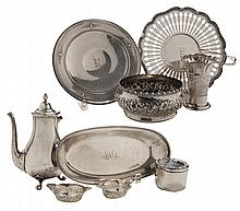 Eight Pieces Sterling Hollowware