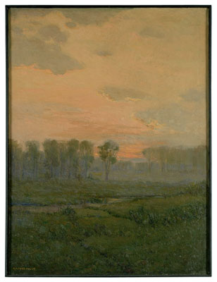 Landscape at sunrise by Maurice Hague