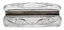 Cut Glass Casket with Sterling Silver