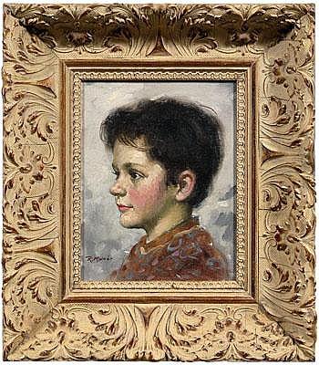 Lajos Rezes Molnar painting (Hungarian, born