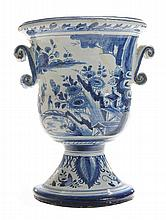 Large Delft Blue and White Flower Urn