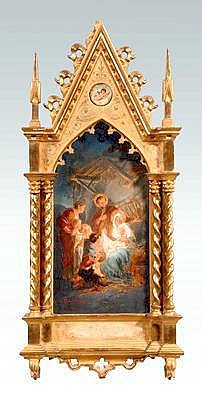 Feuerstein painting, Gothic frame: