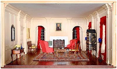 Richmond miniature room box: drawing room of the