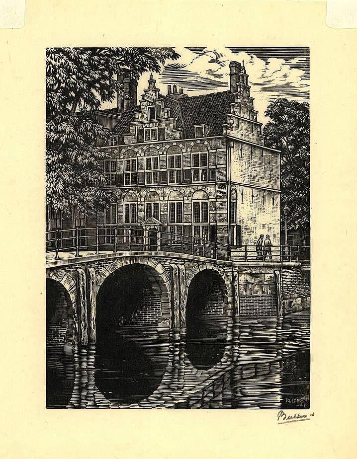 Bulder, N.J.B. (1898-1964). (House on the three ca