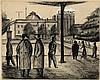 Elenbaas, V.H. (1912-2008). (Flaneurs near a city, Wally Elenbaas, Click for value