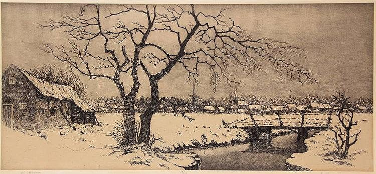 Hemert, A.W.J.M. van (1883-1944). (Winterlandscape