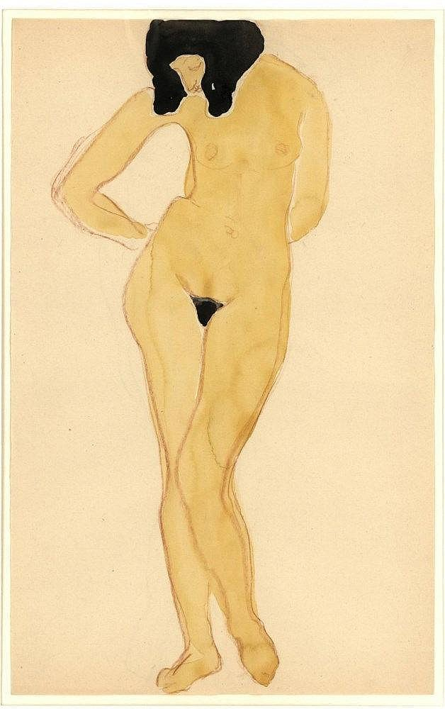 Stolk, R.J.A. (1896-1945). (Female nude). Drawing,