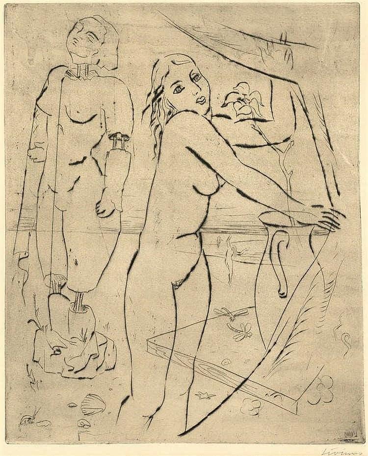 Bundt, L.A.C.J. van de (1909-1979). (Female nude w