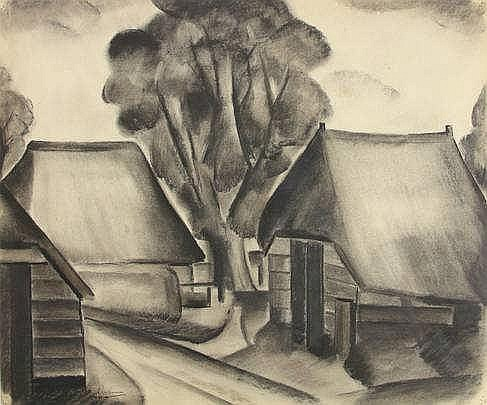 Jongman, R. (1887-1958). (Village views). Seven dr
