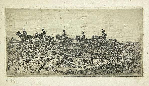 Breitner, G.H. (1857-1923). Veldartillerie. Etchin