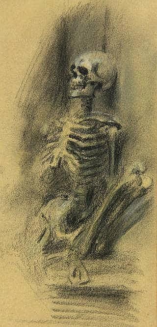 Berg, F. (1892-1949) (attrib.). (Sitting skeleton)