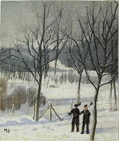 Heineken, M. (1844-1930). (Two men with brooms wal