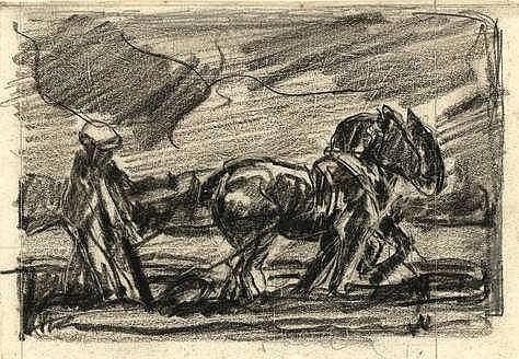 Leeuwen, C. van (1892-1949). (Crucifix). Drawing,