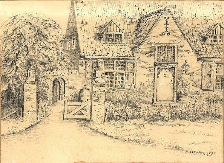 Stronkhorst, B.J. (1876-1953). (Rustic mansion). D
