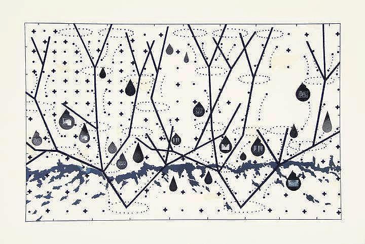 Peeter, Z. (b.1942). Vederlicht. Etching, 72,5x52,