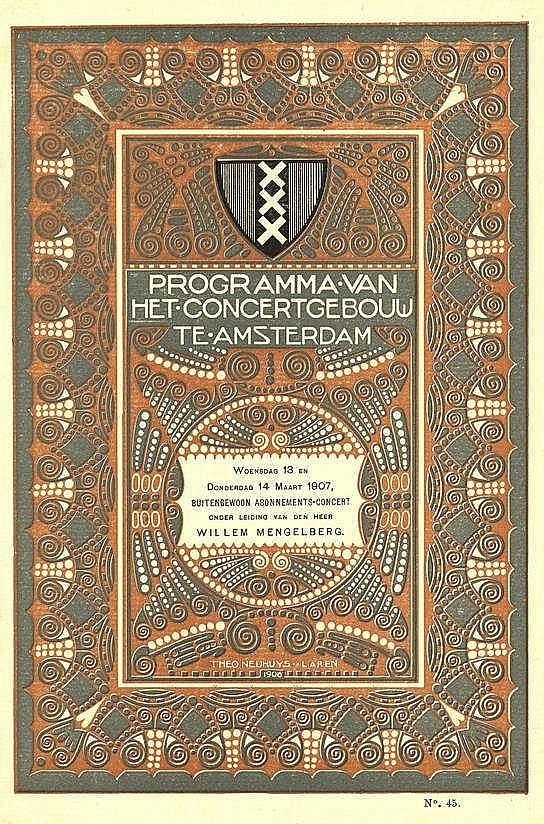 [Commercial art]. Neuhuys, T. (1878-1921). Program