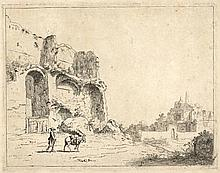 Bronckhorst, J.G. van (1603-±1661). Ruins. Etching