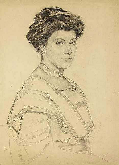 Spoor, C.R.H. (1867-1928). (Portrait of a woman).