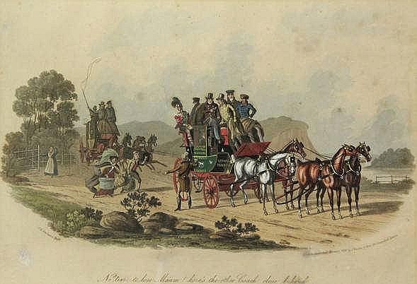 Newhouse, C.B. (act.1830-1840). (Scenes with trave