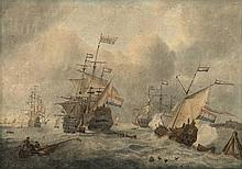 Schouman, M. (1770-1848). (Ships in front of a cit