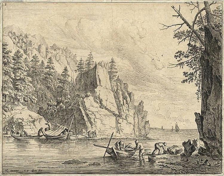 Aken, J. van (1614-1661). View of the Rhine. The t