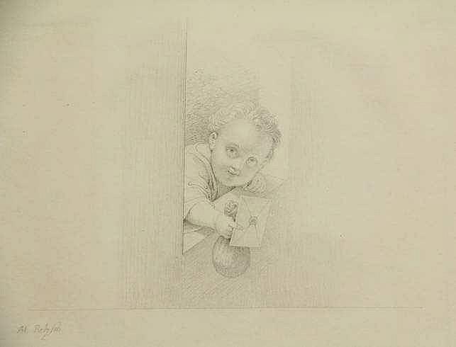 Retzsch, M. (1779-1857). (Young boy presenting a s