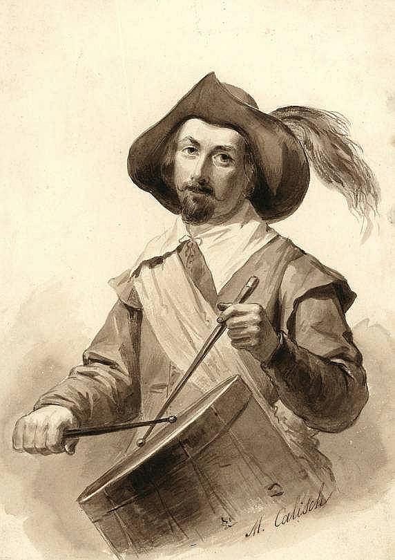 Calisch, M. (1819-1870). (Portrait of a drummer).