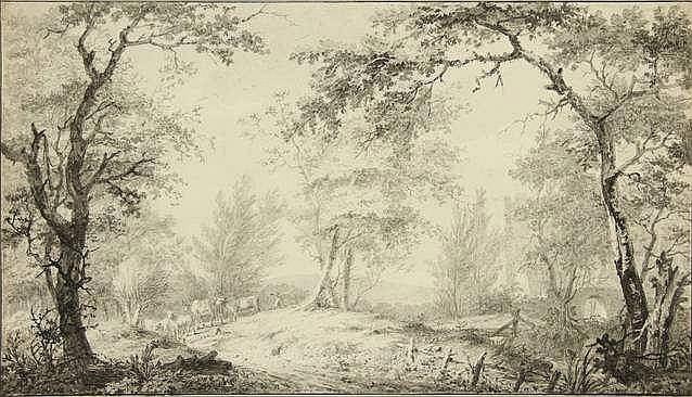Brandhoff, J.B. (1738-1803). (A shepherd herding h