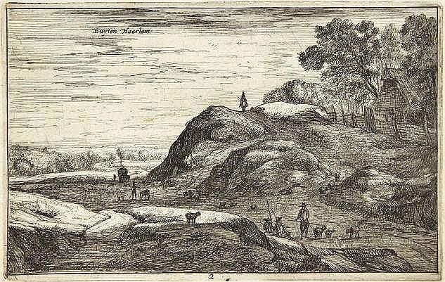 Roghman, R. (1627-1692). Buyten Haerlem. Etching f