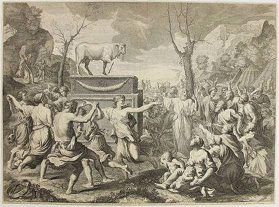 Baudet, E.S. (1638-1711). (A gathering of excited