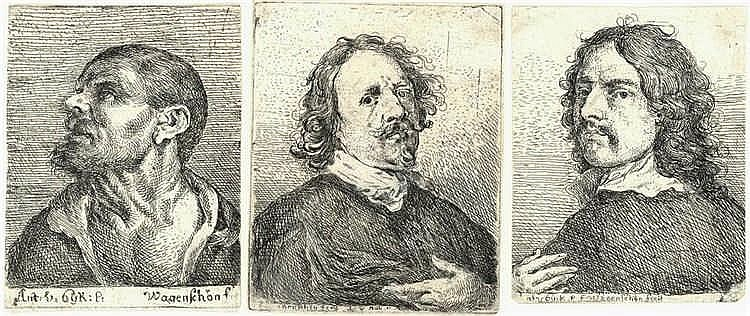 Wagenschön, F.X. (1726-1790). (Portraits). Three e