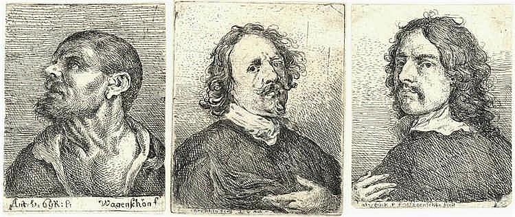 Wagenschön, F.X. (1726-1790). (Portraits). Three e