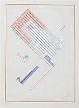 Zwart, P. [Free-form typography]. Hommage à une jeune fille. Free-form typo
