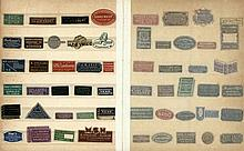 [Bookseller's tickets, bookplates, visiting cards etc.]. Lot of ±700 bookse